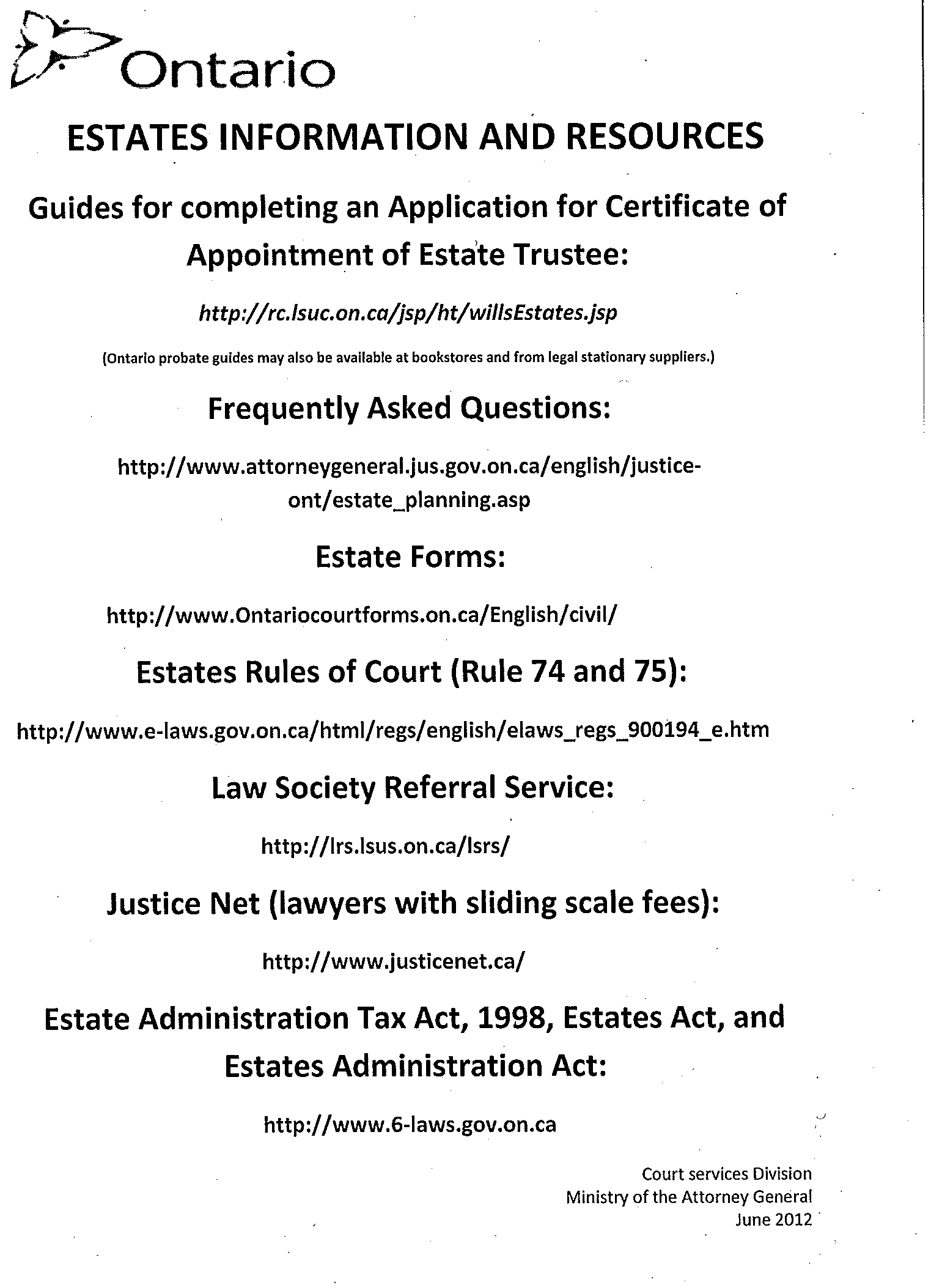 Notice to all estates lawyers estates list urgent new guidelines estates information solutioingenieria