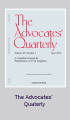 Advocates' Quarterly