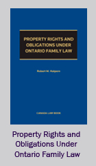 Property Rights and Obligations Under Ontario Family Law