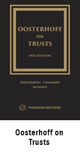 Oosterhoff on Trusts, Ninth Edition